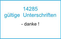Bürgerbegehren mit 14285 gültigen Unterschriften abgeschlossen